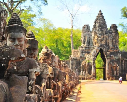 Stone Gate of Angkor Thom, Angkor Wat - Siem Reap, Cambodia
