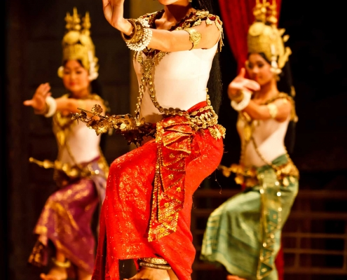 Three Khmer Dancers - Siem Reap, Cambodia