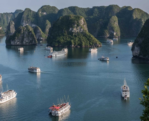 View from Above Ha Long Bay, Vietnam