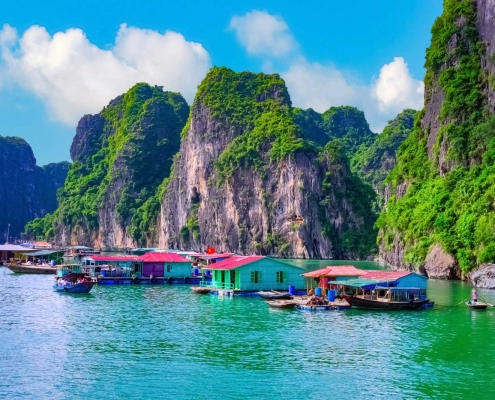 Floating Fishing Village - Ha Long, Vietnam