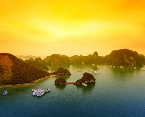 Ha Long Bay Sunset, Vietnam