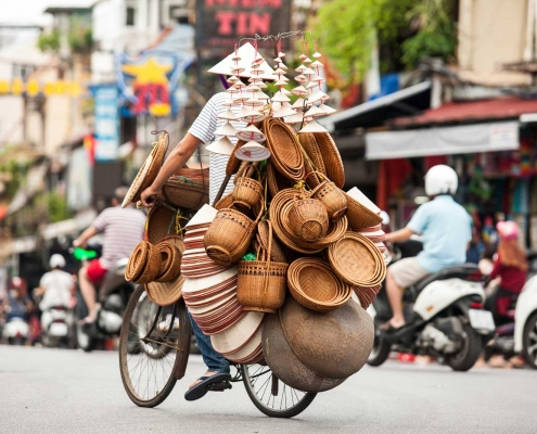 Street Vendors in Old Quarter - Hanoi, Vietnam