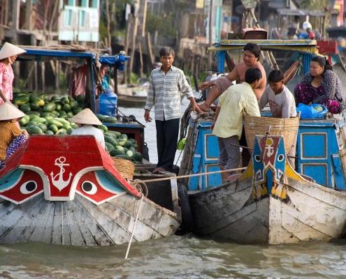 Floating Market, Mekong Delta - Vietnam