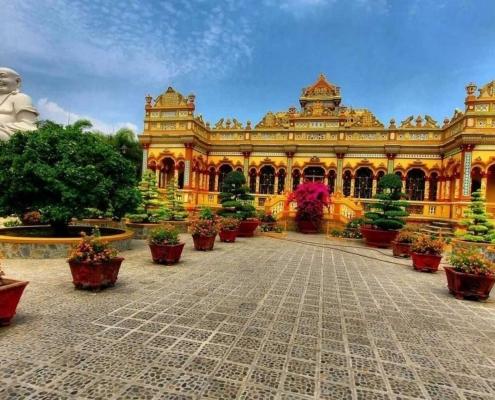 Vinh Trang Pagoda, Mekong Delta - Vietnam